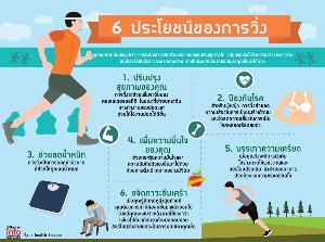 6 ประโยชน์ของการวิ่ง