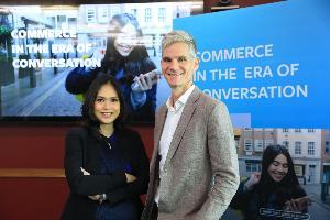 นางสาวพิลาสินี กิตติขจร หุ้นส่วนและกรรมการผู้จัดการ บอสตัน คอนซัลติ้ง กรุ๊ป ประเทศไทย และ มร.จอห์น แวกเนอร์ กรรมการผู้จัดการ Facebook ประเทศไทย