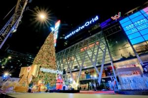 """ตระการตา ไฟประดับต้นคริสต์มาสสุดยิ่งใหญ่ """"wOrld Of happiness"""" ที่เซ็นทรัลเวิลด์"""