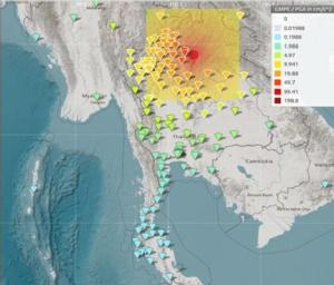 ลาวแผ่นดินไหวขนาด 5.9 สั่นสะเทือนถึงภาคเหนือของไทยหลายจังหวัด