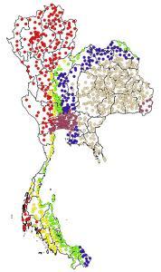 แผนที่สำหรับค่าความเร่งที่เกิดขึ้นจากการสั่นไหวของอาคาร (SA) ที่ 1.0 วินาที จากการศึกษาใหม่สำหรับระดับแผ่นดินไหวรุนแรงสูงสุดที่พิจารณา