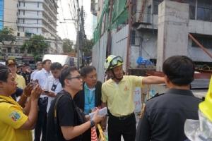 กำชับผู้รับเหมาตรวจความปลอดภัยก่อสร้างอาคารย่านคลองถม หลังเกิดเหตุคานเหล็กถล่ม