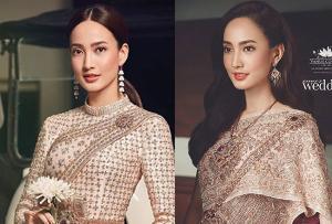 """เลอค่า """"แต้ว ณฐพร"""" สวมชุดไทยถ่ายแบบ งดงามดั่งนางในวรรณคดี"""