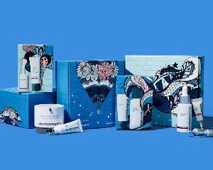 Dermalogica Festive Set ของขวัญในกล่องศิลป์ ผลงานออกแบบของ Kelsey Montague