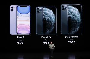 iPhone 2019 รุ่นล่าสุด Apple เปิดตัว iPhone 11 ด้วยหน้าจอ 6.1 นิ้ว ขณะที่ iPhone 11 Pro มีหน้าจอ 5.8 นิ้วและ iPhone 11 Pro Max ที่มีหน้าจอ 6.5 นิ้ว