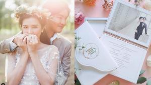 """โค้งสุดท้าย """"บี มาติกา"""" เปิดภาพพรีเวดดิ้ง พร้อมการ์ดแต่งงานสุดโรแมนติก"""