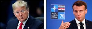 ประธานาธิบดีโดนัลด์ ทรัมป์ แห่งสหรัฐฯ          ประธานาธิบดีเอ็มมานูเอล มาครง แห่งฝรั่งเศส
