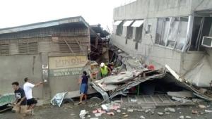 แผ่นดินไหวฟิลิปปินส์ทำเด็กตายแล้ว 1 ราย อาคารบ้านเรือนพังเสียหาย
