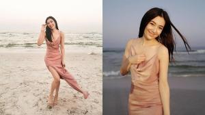 """""""เบลล่า"""" สวยหวานกับลุคเพื่อนเจ้าสาวเปล่งประกายทำชายหาดสดใส"""