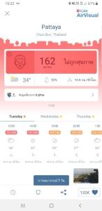 ผงะ! ค่า PM 2.5 เมืองพัทยา สูงถึง 72 ไมโครกรัม ต่อ ลบ.เมตร