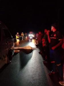 หนุ่มกลับบ้านฉลองปีใหม่กับเมียพลัดตกกระบะหลังถูกรถเหยียบเสียชีวิต