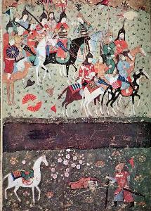 ภาพกองทัพ Ginghis Khan จักรพรรดิมองโกลก่อนข้ามแม่น้ำสินธุ (Indus River)