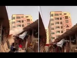 สื่อเผยคลิปนาทีช็อค!อาคารพังครืนถล่มทั้งหลัง ชาวบ้านหนีตายอลหม่าน(ชมวิดีโอ)