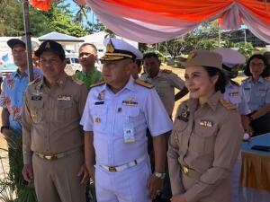 ทัพเรือภาค 3 จัดปล่อยเต่า ตามโครงการอนุรักษ์แนวปะการังและสิ่งมีชีวิตใต้ทะเลไทย