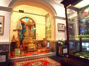 พระบรมสารีริกธาตุที่ประดิษฐานอยู่ภายในพิพิธภัณฑ์