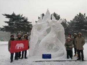 ประกาศให้โลกรู้! สารพัดช่างตราดรักษาแชมป์แกะสลักหิมะโลก 2 ปีซ้อน