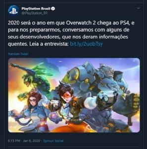 """ชัวร์หรือไม่! เพลย์สเตชันบราซิล พลั้งปาก """"Overwatch 2"""" ออกทันปีนี้"""