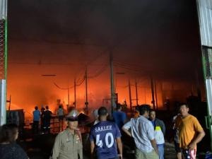 เพลิงไหม้โรงงานผลิตรองเท้า เสียหายกว่า 10 ล้านบาท