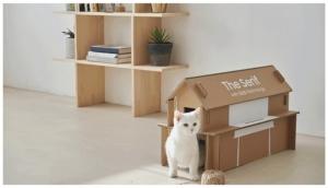 กล่องบรรจุภัณฑ์สามารถนำมาประยุกต์เป็นโต๊ะหรือชั้นวางของขนาดเล็ก หรือบ้านแมวได้  เพียงทำตามหนังสือคู่มือที่มีให้ผ่านการสแกนคิวอาร์โค้ดที่อยู่บนกล่อง