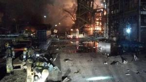 โรงงานเคมีระเบิดไฟลุกไหม้ในสเปน ตาย 2 บาดเจ็บ 8