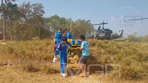 นาทีชีวิต! นักบิน ทบ.นำ SKY DOCTOR ฝ่าหมอกควันช่วยผู้ป่วยกะเหรี่ยงกลางผืนป่าตะวันตก