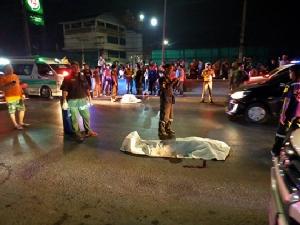 หนุ่มซิ่งบิ๊กไบค์ชนป้าเดินข้ามถนน เสียชีวิตทั้งคู่