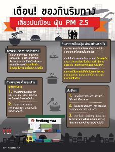 เตือน! ของกินริมทาง เสี่ยงปนเปื้อน ฝุ่น PM 2.5