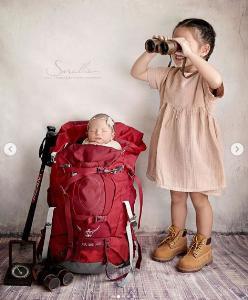 """น่ารักมาก """"ภูริ - แอน"""" จับลูกสาวเป็นนางแบบถ่ายภาพเซ็ต """"นักเดินทางตัวจิ๋ว"""""""