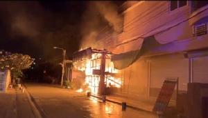 ไฟไหม้บ้านเรือนประชาชนต้อนรับตรุษจีน เคราะห์ดีไร้คนเจ็บ