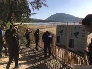 อธิบดีกรมอุทยานแห่งชาติฯ ให้กำลังใจเจ้าหน้าที่เฝ้าติดตามสถานการณ์เต่ามะเฟือง