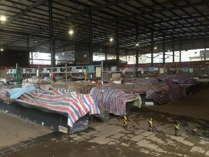 ตลาดที่ถูกปิดในเมืองอู่ฮั่น