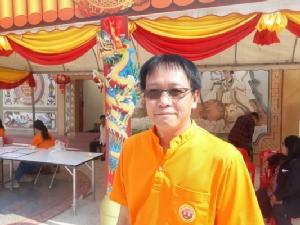นายประกิต ทองแท่งไทย ประธานคณะกรรมการจัดงานศาลปึงเถ้ากง - ม่าประจำปี 2563