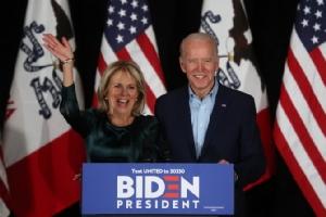 อดีตรองประธานาธิบดีโจ ไบเดน อีกหนึ่งผู้ลงแข่งขันเพื่อเป็นตัวแทนพรรคเดโมแครตเข้าชิงตำแหน่งประธานาธิบดีสหรัฐฯ