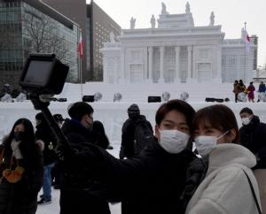 ไวรัสโคโรนาทำเทศกาลหิมะฮอกไดโด สูญรายได้กว่า 100 ล้านเยน
