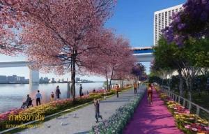 ภาพจำลองโครงการก่อสร้างทางเดินเลียบแม่น้ำเจ้าพระยา