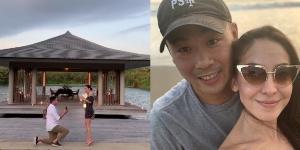 """รักสุกงอม!! """"โอซา แวง"""" ถูกแฟนหนุ่มนักธุรกิจ ทำเซอร์ไพรส์คุกเข่าขอแต่งงานที่เวียดนาม"""