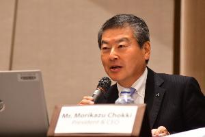 นาย โมะริคาซุ ชกกิ กรรมการผู้จัดการใหญ่ บริษัท มิตซูบิชิ มอเตอร์ส (ประเทศไทย) จำกัด