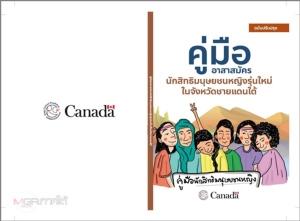 ปกหนังสือ คู่มืออาสาสมัครนักสิทธิมนุษยชนหญิงรุ่นใหม่