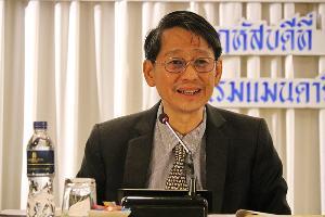 รศ.ดร.สุจริต คูณธนกุลวงศ์ ประธานบริหารแผนงานโครงการยุทธศาสตร์เป้าหมาย Spear Head ด้านการบริหารจัดการน้ำ วช. จากคณะวิศวกรรมศาสตร์ จุฬาลงกรณ์มหาวิทยาลั