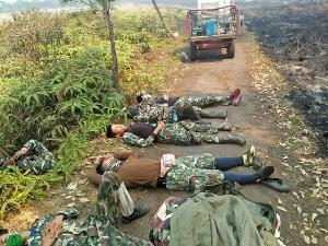 ชาวเน็ตส่งกำลังใจ! จนท.อุทยานแห่งชาติภูกระดึง นอนหลับกลางป่า หลังทำภารกิจดับไฟ 2 วัน