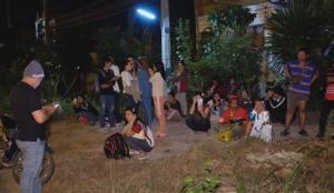 รถทัวร์ขนแรงงานกัมพูชาลูกปืนพวงมาลัยเกิดขัดข้อง พุ่งชนต้นไม้ริมทางเจ็บ 4 ราย