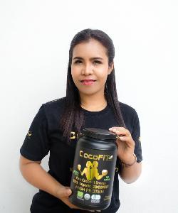 นางสาวพิราวรรณ์ โยเอนเซ่น ผู้ส่งออกน้ำมันมะพร้าว เจ้าของแบรนด์ Cocofit