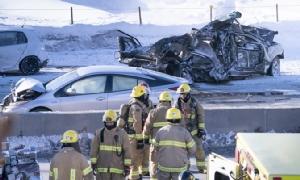 In Clip: แคนาดาเจออุบัติเหตุรถชนกันยับร่วม 200 คัน บาดเจ็บเกือบ 70 กลางไฮเวย์มอนทรีออลหลังหิมะตกหนัก