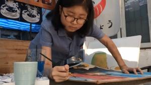 ศิลปินสาวน้อยป่วยหนักวาดภาพ ผบ.ตร.นำภารกิจโคราช ยกฮีโร่ในดวงใจหวังมอบถึงมือ