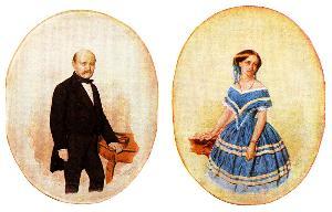 ภาพแต่งงานของ Ignaz Semmelweis และ M?ria Weidenhofer