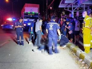 บิ๊กไบค์หักหลบรถเทรลเลอร์ เสียหลักชนฟุตปาธเสียชีวิต