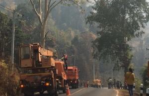 เทศบาลท่าขนุนวอนรัฐเร่งเสริมกำลังร่วมดับไฟป่า หลังเริ่มเกิดวิกฤต