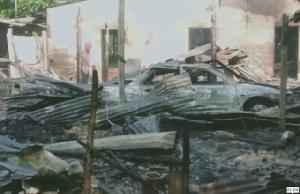 ไฟเผาบ้านวอด 2 หลัง ยายวัย 86 ปีหนีตาย