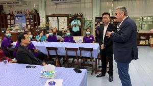 จับมือบุกฆ่าเชื้อไวรัส-แบคทีเรีย โดยไม่ใช้สารเคมี ให้ ร.ร.สวนกุหลาบวิทยาลัย หลังมี นร.กลับจากดูงานที่ญี่ปุ่น