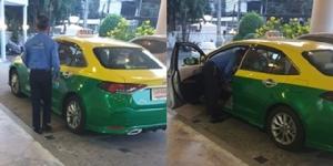 ปลอดภัยแน่นอน! สาวเผยภาพแท็กซี่ฉีดแอลกอฮอล์เดินเช็ดรถ หลังเสร็จภารกิจส่งผู้โดยสาร